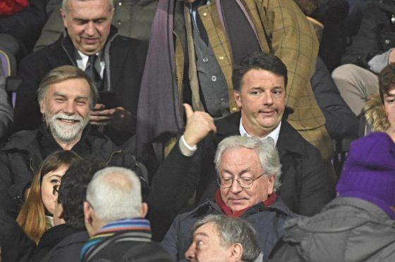 """Fiorentina-Inter: Renzi scherza, """"Delrio via da Franchi, Viola pareggiano"""""""