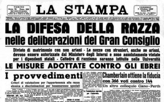 Leggi razziali:80 anni fa la firma,un anno iniziative a Pisa