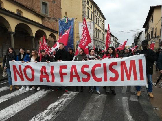 """Empoli: corteo antifascista, """"Rispondere a fatti Macerata con valori democratici"""""""