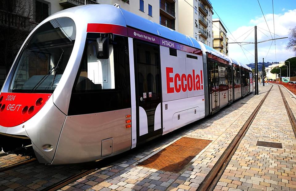 In estate i nuovi tram di Firenze, linea 2 in agosto