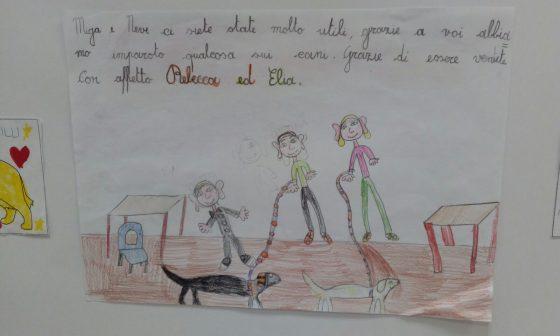 Gli amici a quattro zampe disegnati dai bambini in mostra alla Coop di Figline