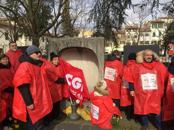 10mila passi antifascisti della Cgil Toscana per M'illumino di meno