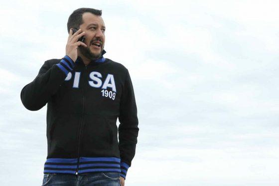Salvini a Pisa: carica alleggerimento polizia