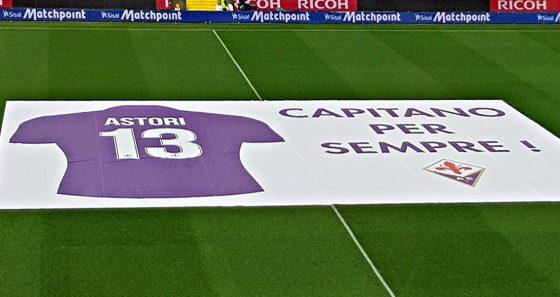 Fiorentina, commozione alla prima partita senza il capitano Astori