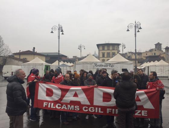 Licenziamenti Dada: Firenze, presidio dipendenti e Filcams Cgil