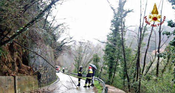 Maltempo Camaiore: frana argine torrente, chiusa strada