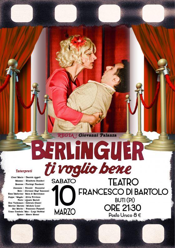 'Berlinguer ti voglio bene' arriva al Teatro Francesco di Bartolo