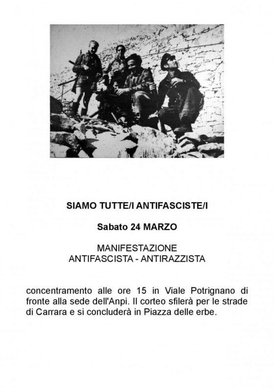 Antifascismo: manifestazione per le strade di Carrara