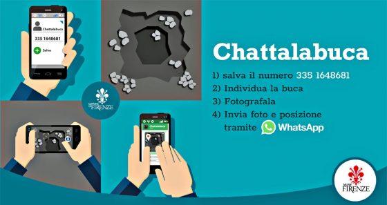 Chattalabuca, App di ComuneFi per segnalare le buche