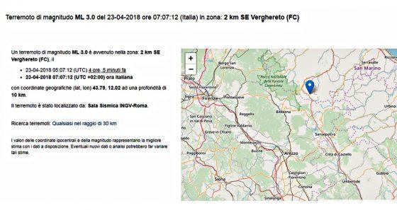 Scossa di terremoto avvertita ad Arezzo