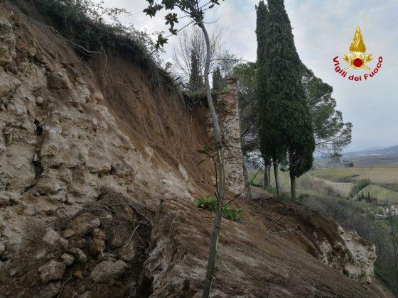 San Gimignano: crolla tratto delle mura, nessun ferito