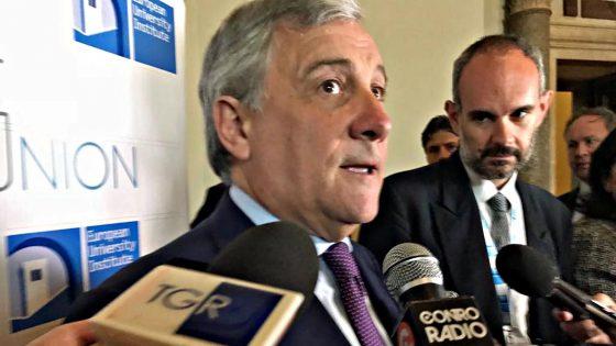 """Manovra, Tajani: """"Difficile aiutare governo se non tenta accordo"""""""