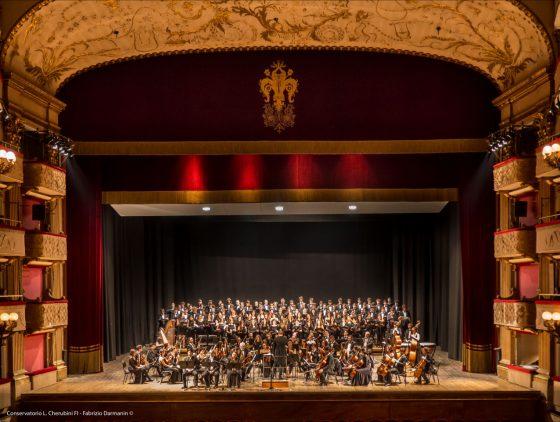 Concerto sinfonico-corale di chiusura dell'anno accademico del Conservatorio Luigi Cherubini, che rientra nel programma dell'LXXXI Maggio Musicale