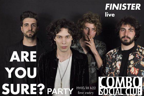 Finister in concerto sabato 19 maggio al Combo Social Club