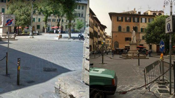 Pilomat in Santo Spirito e la piazza si restringe