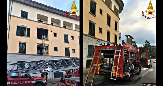 Incendio in apparttamento, 3 intossicati