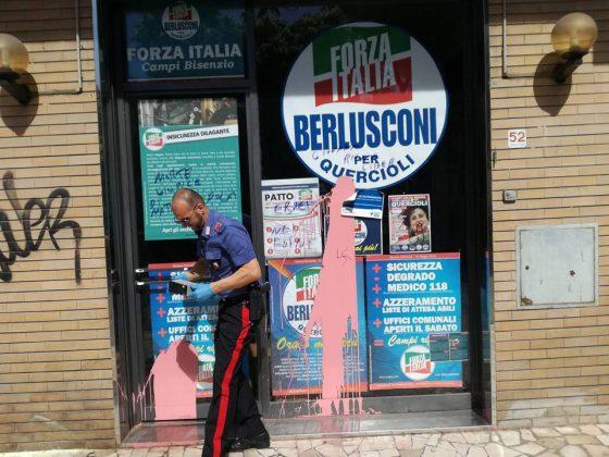 Amministrative: nuovo atto vandalico contro sede FI a Campi Bisenzio