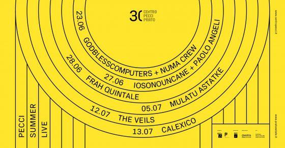 Pecci Summer Live. Concerti per i trenta anni del Centro Pecci di Prato
