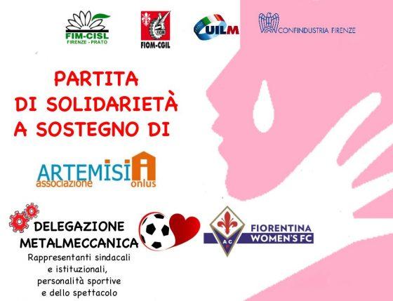 'Un calcio alla violenza' stasera in campo per Artemisia