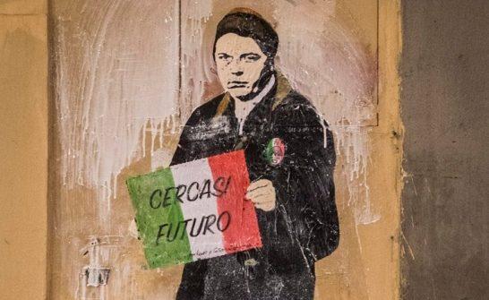A Firenze arriva Tv Boy e il graffito di Renzi