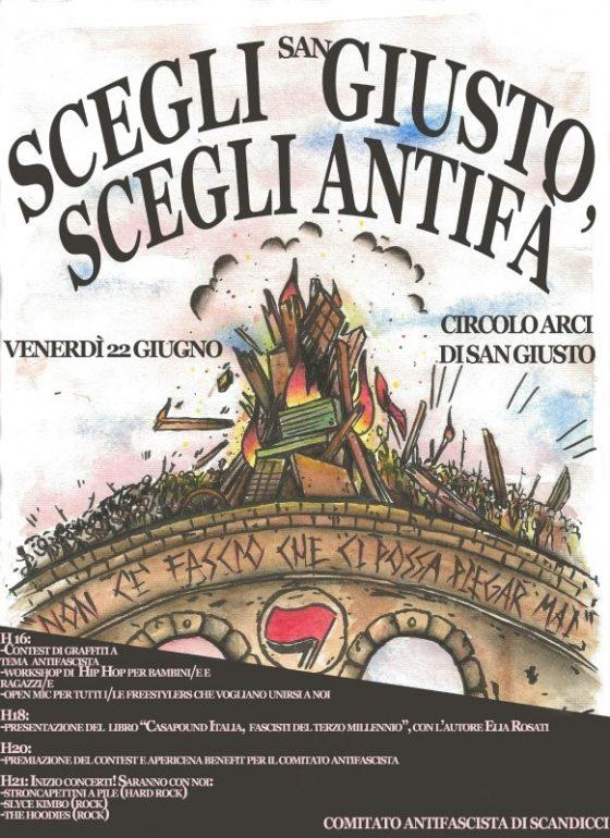 Giornata Antifascista al Circolo Arci di San Giusto: insieme contro la paura e l'isolamento