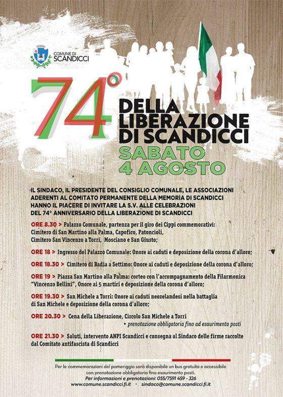 Il 4 agosto è l'anniversario della liberazione di Scandicci