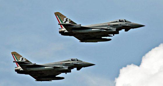 Decollo immediato da Grosseto per caccia Aeronautica Militare