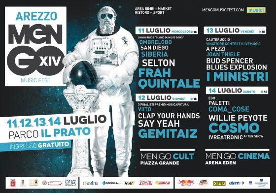 Men/go Festival dall'11 al 14 luglio ad Arezzo