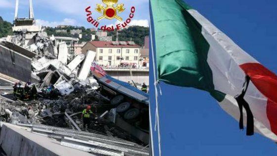 Crollo Genova: il Gonfalone della Toscana ai funerali di Stato
