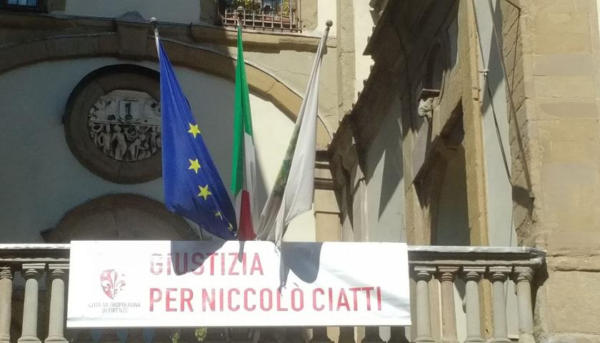 striscione per Niccolò Ciatti