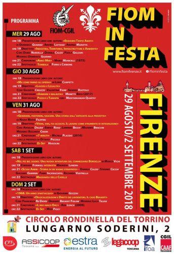 Firenze: Torna Fiom in Festa, dal 29 al Torrino di S.Rosa