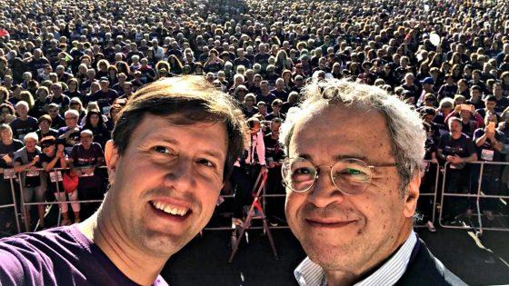 Renzi, Nardella e Mentana tra i 34.000 di 'Corri la vita'