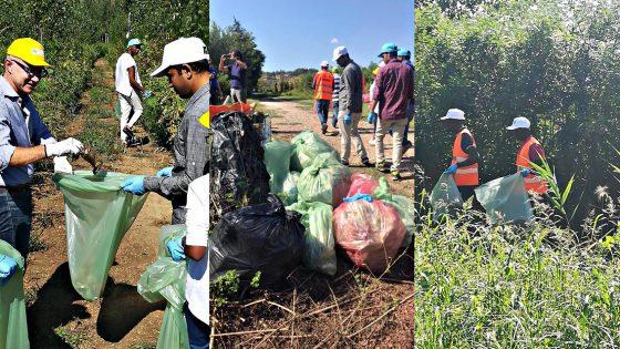 Richiedenti asilo ripuliscono terreni lungo i canali