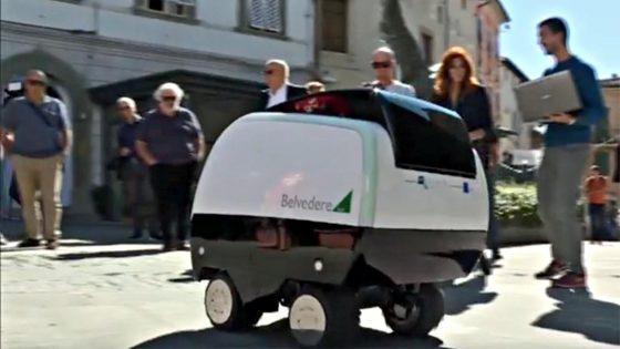 A Peccioli Mobot, primo robot-carrello spesa al mondo