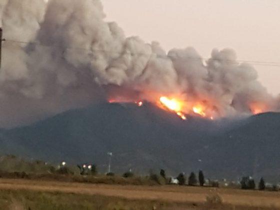 Incendio Monte Serra: evacuata altra frazione di Vicopisano