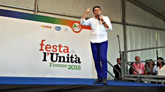 Matteo Renzi alla Festa de l'Unità Firenze