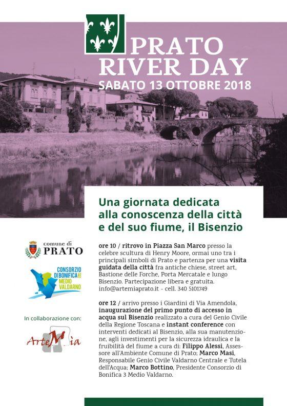 Prato: sabato 13 ottobre sarà il River Day 2018