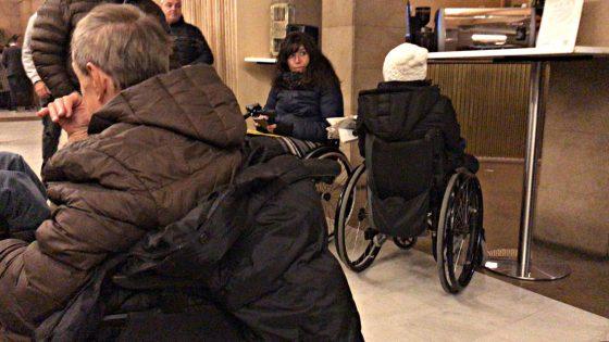 Protesta dei Disabili alla 'Festa della Toscana'