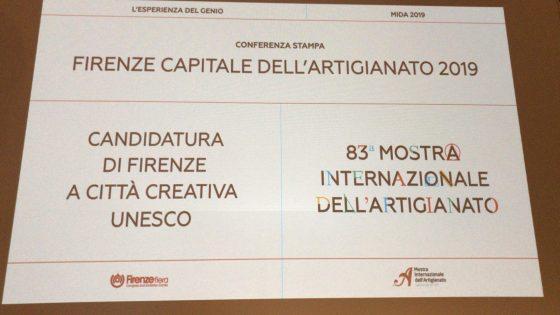Firenze capitale dell'artigianato 2019