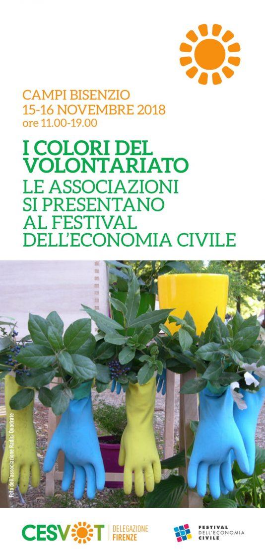 """""""I colori del volontariato"""", le associazioni in piazza Dante a Campi Bisenzio"""