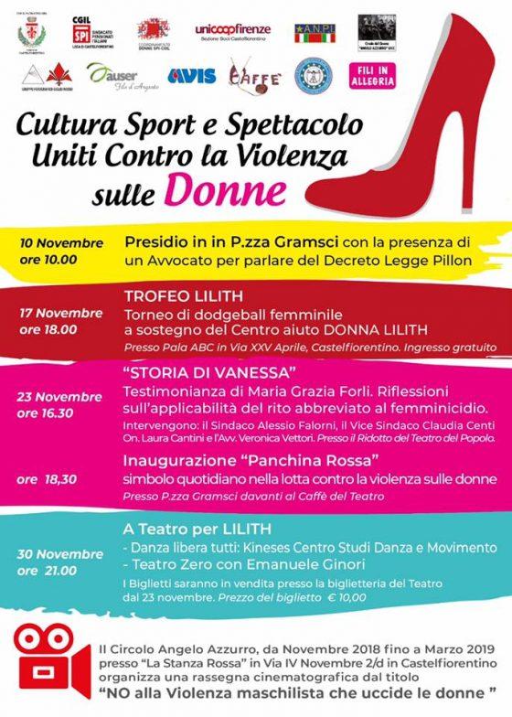 Cultura, sport e spettacolo per denunciare la violenza contro le donne