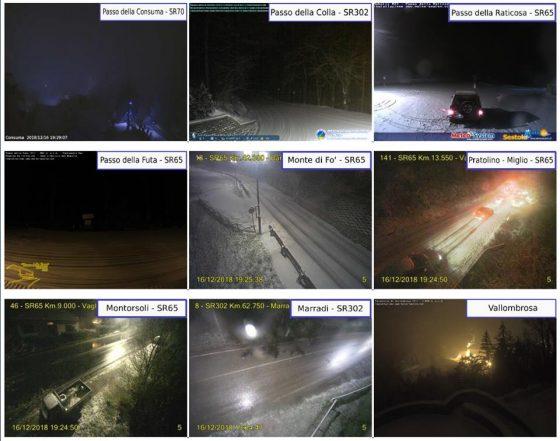 Neve in Mugello, Valdarno e Chianti. Scuole chiuse a Carmignano