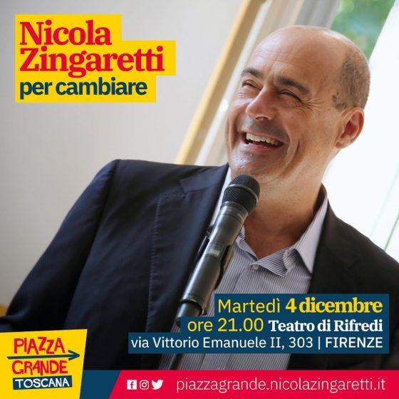 Zingaretti torna in Toscana. Domani,  a Firenze