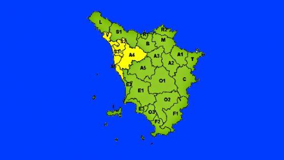 Toscana, 'Allerta Gialla' fino a lunedì su costa e centronord