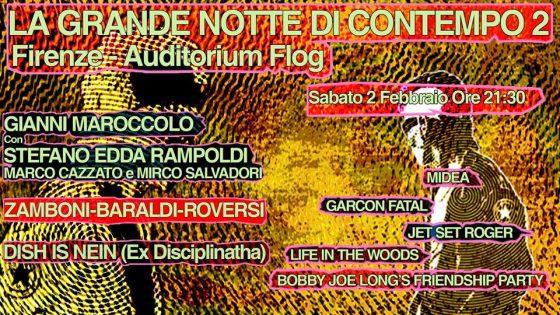 La grande notte di Contempo. Contempo Night#2. Sabato 2 febbraio Flog, Firenze