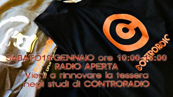 Controradio Club, Radio Aperta, sabato 19 gennaio dalle 10.00 alle 13.00