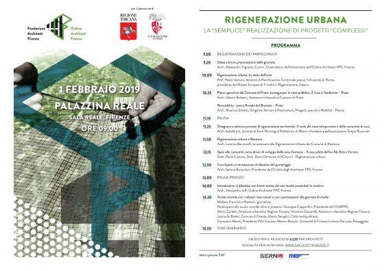 """""""Rigenerazione urbana"""" con Ordine degli Architetti a Firenze"""