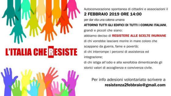 L'Italia che resiste: a Firenze il 2 febbraio sotto Palazzo Vecchio