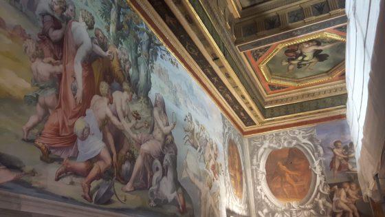 Palazzo Vecchio: di nuovo visibile soffitto Sala degli Elementi