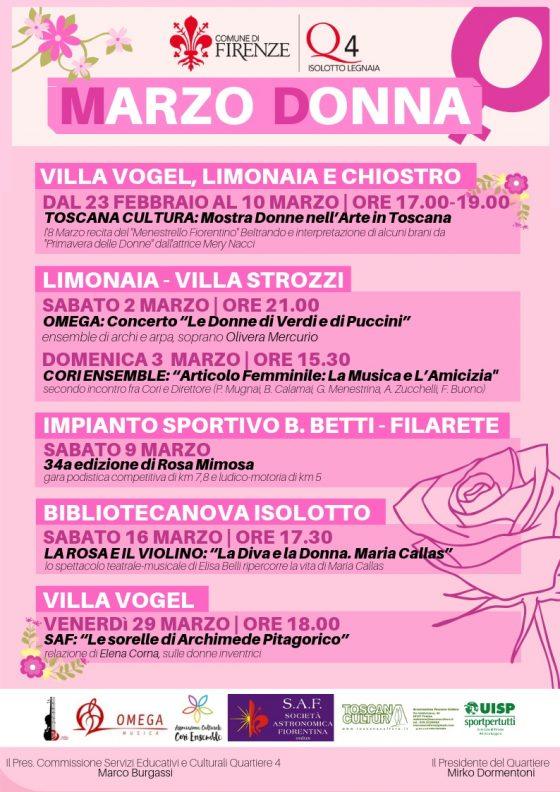 """Firenze: """"Marzo Donna"""" al Quartiere 4"""
